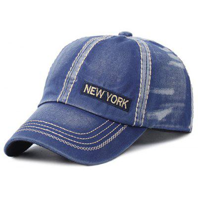 Stylish Letter Embroidery and Sewing Thread Embellished Baseball Cap For Men
