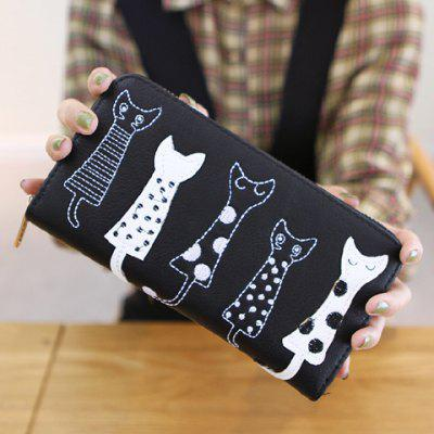 Cat Pattern Design Wallet For Women