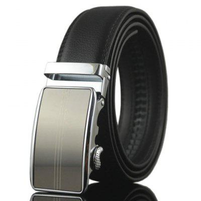 Stylish Three Slender Stripes Pattern Automatic Buckle Belt For Men