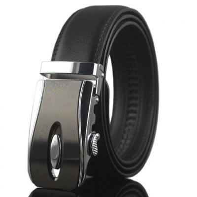 Stylish Hollow Out and Ellipse Embellished Automatic Buckle Belt For Men