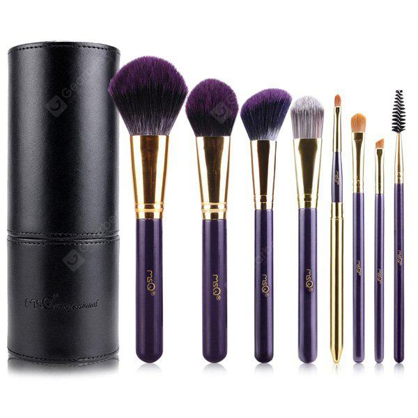Stylish 8 Pcs Bamboo Charcoal Fiber Makeup Brushes Set with Brush Holder
