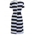 Chic Women's Round Neck Short Sleeve Striped Dress deal