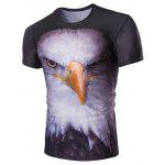 Buy COLORMIX Stereoscopic Night Owl Print Round Neck Short Sleeves T-Shirt For Men for $13.75 in GearBest store