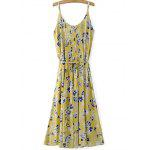 cheap Trendy Pleated Women's Midi Strap Dress