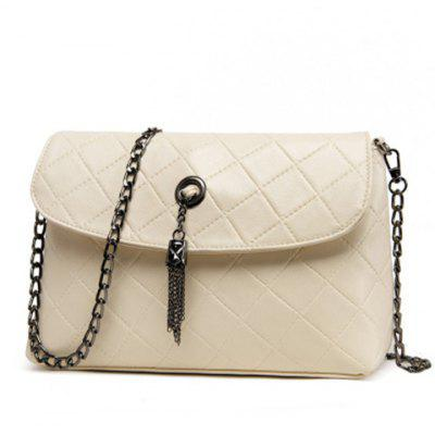 Fashionable Tassels and Argyle Pattern Design Shoulder Bag For Women