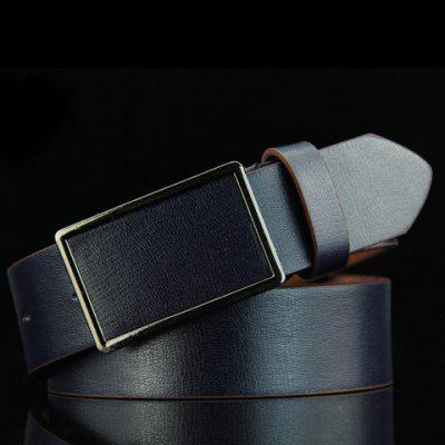 Stylish Smooth Rectangle Buckle Belt For Men