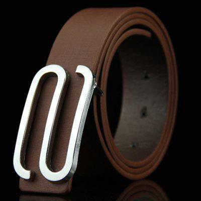 Stylish Big Letter S Shape Alloy Embellished Belt For Men