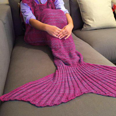 Buy ROSE Exquisite Comfortable Drawstring Style Knitted Mermaid Design Throw Blanket for $25.05 in GearBest store