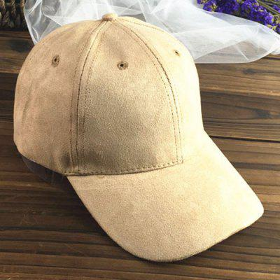 Chic Letter A Embroidery Side Suede Baseball Cap For Women