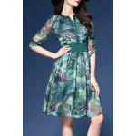best Jungle Print Chiffon Dress