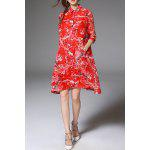 Flares Pocket Design Red Shirt Dress for sale