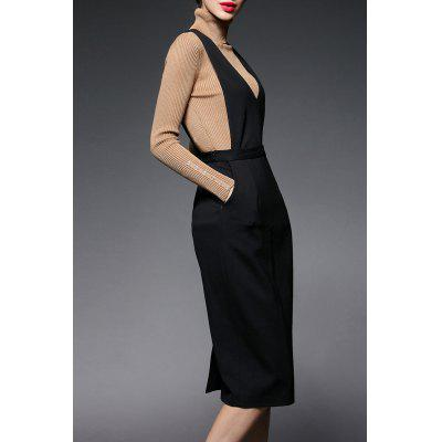 V-Neck Jersey Pinafore Dress