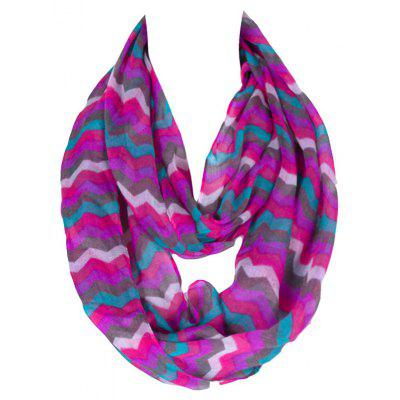 Chic Bohemian Style Wavy Stripe Pattern Voile Bib Scarf For Girls