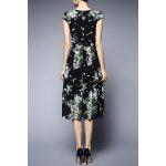cheap Floral Chiffon Midi Dress
