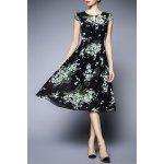 Floral Chiffon Midi Dress for sale