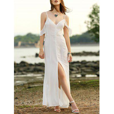 Stylish Cami Solid Color Slit Women's Maxi Dress