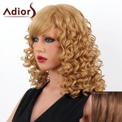 Buy AUBURN BROWN #30 Stylish Medium Adiors Capless Shaggy Curly Human Hair Wig For Women for $102.06 in GearBest store