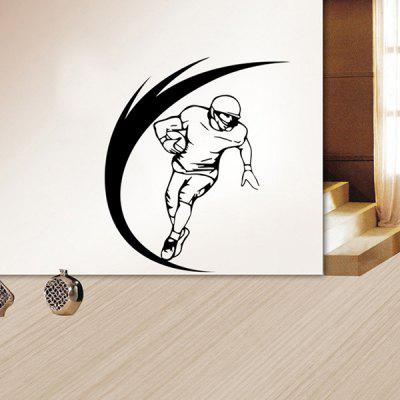 Buy BLACK Fashion Sportsman Pattern Wall Sticker For Livingroom Bedroom Decoration for $6.72 in GearBest store