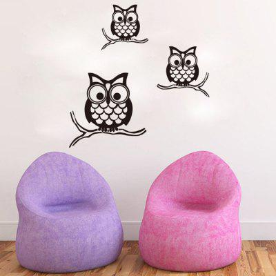 Buy BLACK Night Owl Pattern Wall Sticker For Livingroom Bedroom Decoration for $5.39 in GearBest store