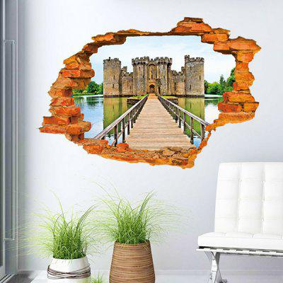 Buy Fashion 3D Wall Broken Ancient Castle Pattern Sticker For Livingroom Bedroom Decoration COLORMIX for $5.87 in GearBest store