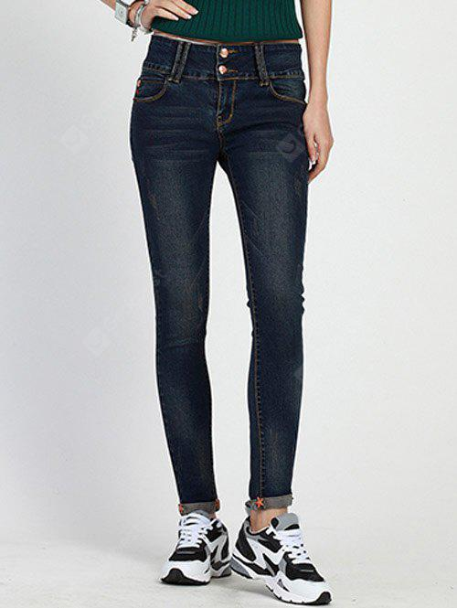 High Rise Cuffed Skinny Jeans