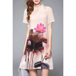 Wash Painting Mandarin Dress