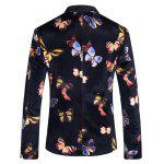 Casual Butterfly Printed Blazer For Men deal