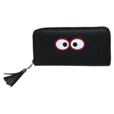 Sweet Eye Pattern and Tassel Design Clutch Wallet For Women