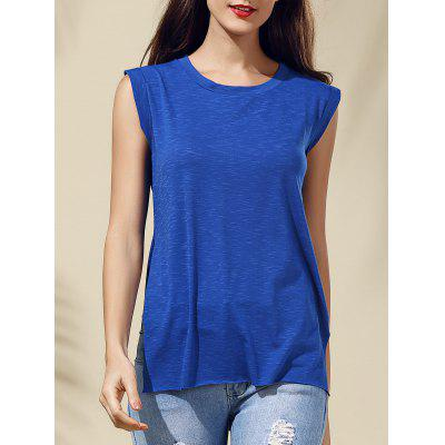 Sleeveless Blue Furcal T-Shirt