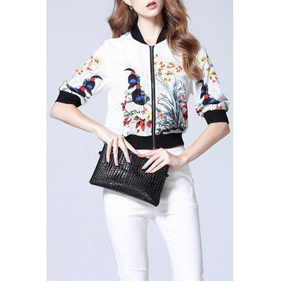 Floral Ribbed Jacket