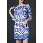 Geometric Print Sheath Dress