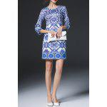 Geometric Print Sheath Dress for sale