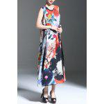 Floral Print Slit Sleeveless Midi Dress for sale
