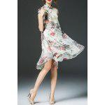 High Low Floral Cheongsam Dress photo
