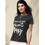 cheap Women's Stylish Letter Pattern Short Sleeve T-Shirt