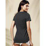 Women's Stylish Letter Pattern Short Sleeve T-Shirt deal