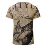 cheap Trendy Car Printed Short Sleeves T-Shirt For Men