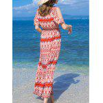 Bohemian Split Sleeve Printed Women's Long Dress deal