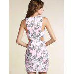 Slimming Cut-Out Printed Women's Bodycon Dress for sale
