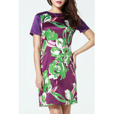 Elagant Print Straight Dress