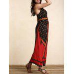 Stylish Women's Belted Ethnic Print Dress deal