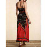 Stylish Women's Belted Ethnic Print Dress for sale