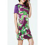 cheap Elagant Printed Straight Dress