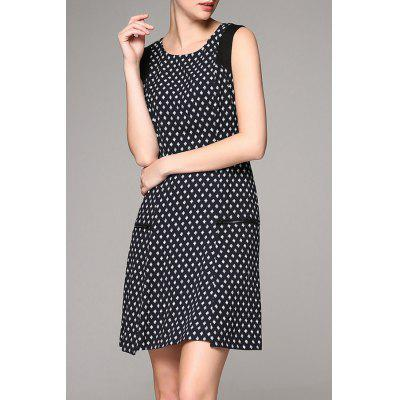Elegant Pockets Print Dress
