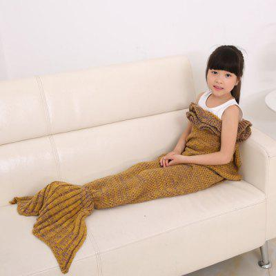 Buy GINGER Flouncing Sleeping Bag Mermaid Design Knitted Blanket and Throws For Kids for $21.73 in GearBest store