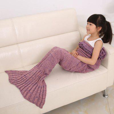 Buy PLUM Flouncing Sleeping Bag Mermaid Design Knitted Blanket and Throws For Kids for $17.79 in GearBest store