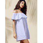 Casual Off-The-Shoulder Striped Flounce Women's Dress deal
