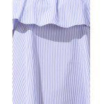 best Casual Off-The-Shoulder Striped Flounce Women's Dress