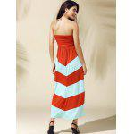 Strapless Stripe Long Summer Dress deal