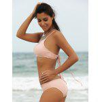 Alluring Solid Color Spaghetti Strap Women's Bikini Set deal